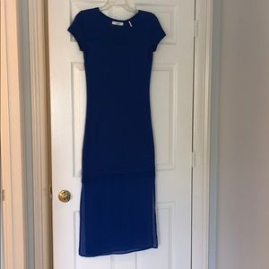 SANDO Blue knit dress